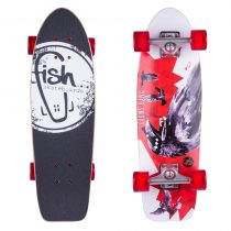 Mini longboard Fish Old School Cruiser Crow 26""