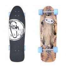Mini longboard Fish Old School Cruiser Turtle 28""