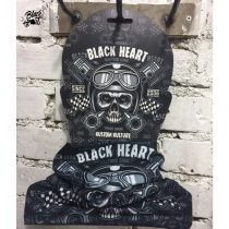 Multifunkciós kendő Black Heart Piston Skull