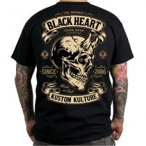Póló BLACK HEART Devil Skull