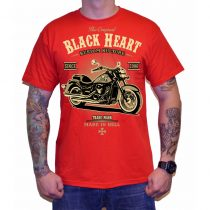 Póló BLACK HEART Harley Red